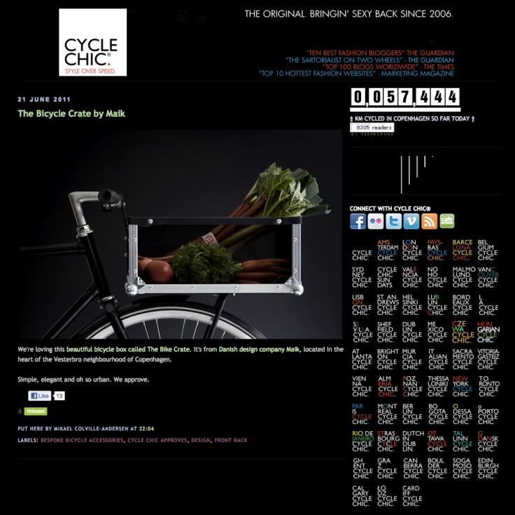 The Bike Crate in Copenhagen Cycle Chic (June 2011)