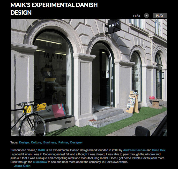 MAIK in Dwell Magazine (April 2012)
