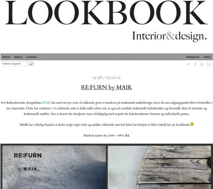 RE:FURN in Lookbook Interior&Design (June 2012)