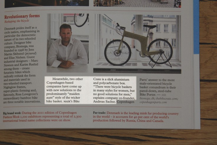 MAIK in Monocle (January 2012)