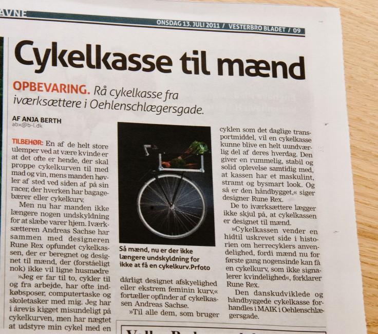 MAIK in Vesterbro Bladet (July 2011)